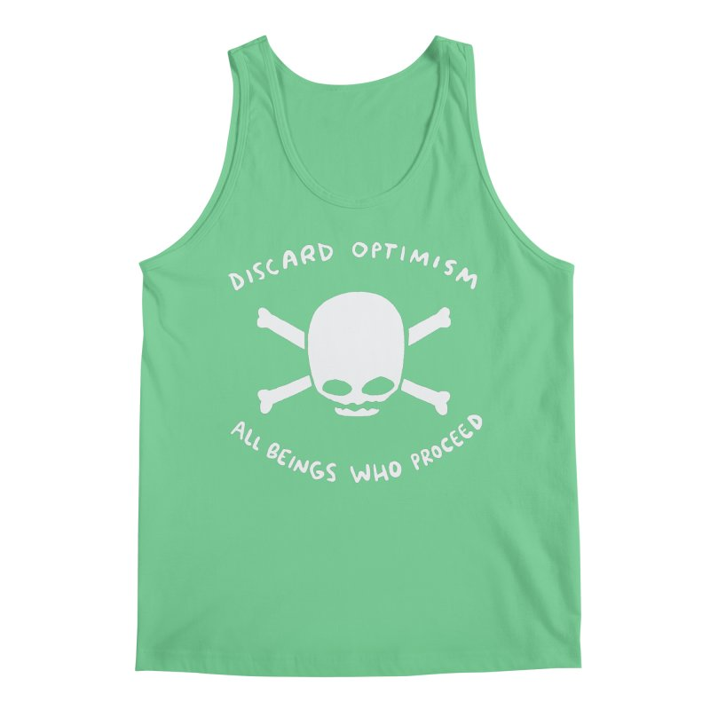STRANGE PLANET SPECIAL PRODUCT: DISCARD OPTIMISM APPAREL AND ACCESSORIES Men's Regular Tank by Nathan W Pyle