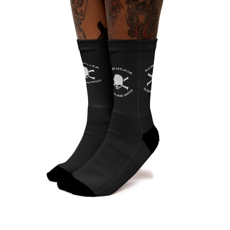 STRANGE PLANET SPECIAL PRODUCT: DISCARD OPTIMISM Women's Crew Socks by Nathan W Pyle