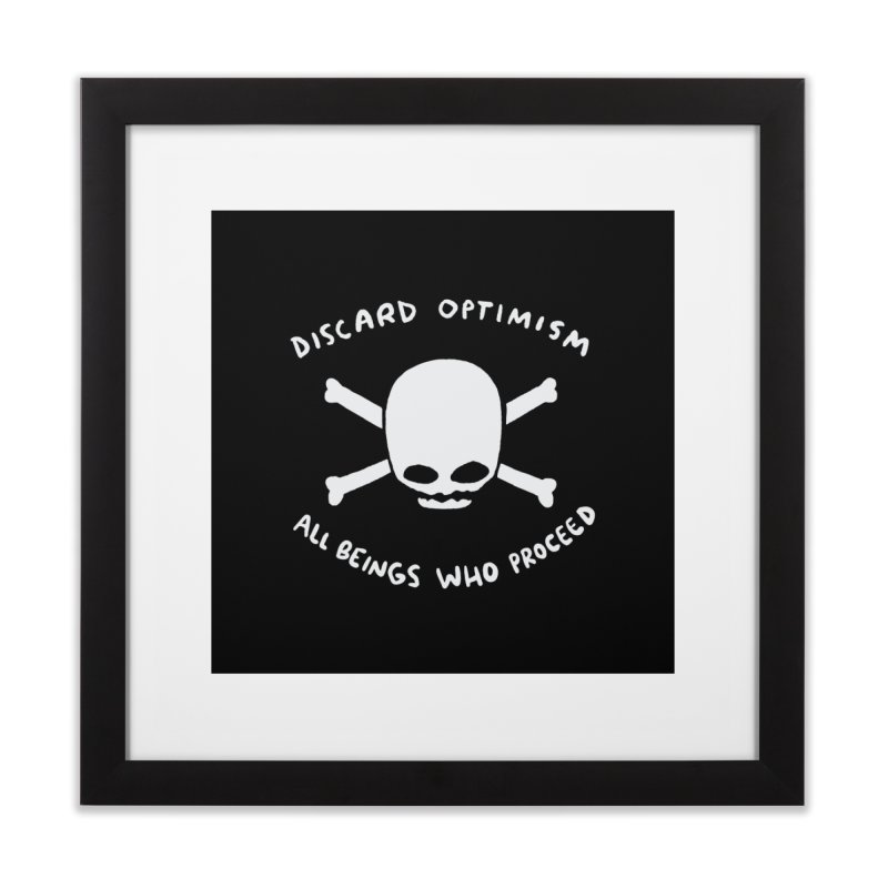 STRANGE PLANET SPECIAL PRODUCT: DISCARD OPTIMISM PRINT Home Framed Fine Art Print by Nathan W Pyle