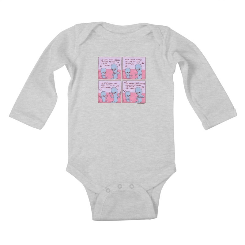 STRANGE PLANET: SMALL EIGHT-LEGGED CREATURE Kids Baby Longsleeve Bodysuit by Nathan W Pyle