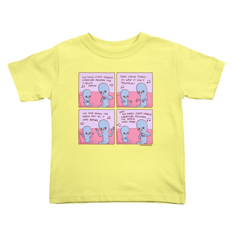 STRANGE PLANET: SMALL EIGHT-LEGGED CREATURE Kids Toddler T-Shirt by Nathan W Pyle