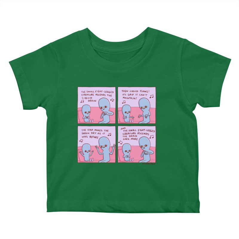 STRANGE PLANET: SMALL EIGHT-LEGGED CREATURE Kids Baby T-Shirt by Nathan W Pyle