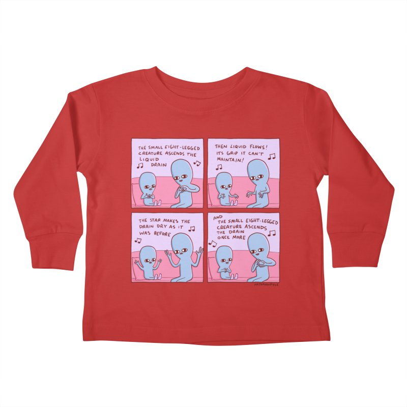 STRANGE PLANET: SMALL EIGHT-LEGGED CREATURE Kids Toddler Longsleeve T-Shirt by Nathan W Pyle