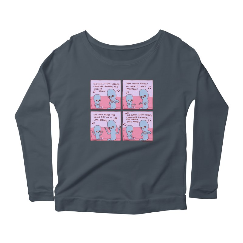 STRANGE PLANET: SMALL EIGHT-LEGGED CREATURE Women's Scoop Neck Longsleeve T-Shirt by Nathan W Pyle