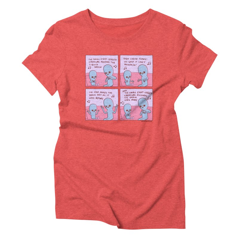 STRANGE PLANET: SMALL EIGHT-LEGGED CREATURE Women's Triblend T-Shirt by Nathan W Pyle
