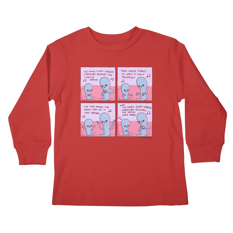 STRANGE PLANET: SMALL EIGHT-LEGGED CREATURE Kids Longsleeve T-Shirt by Nathan W Pyle