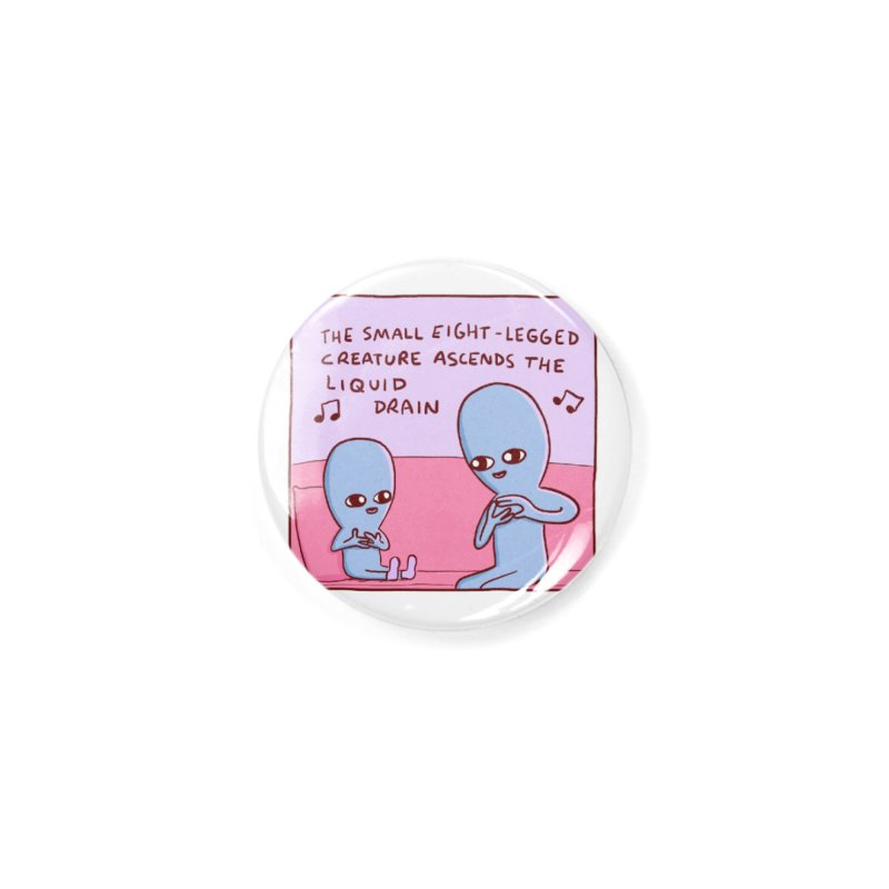 STRANGE PLANET SPECIAL PRODUCT: SMALL EIGHT-LEGGED CREATURE SINGLE PANEL Accessories Button by Nathan W Pyle