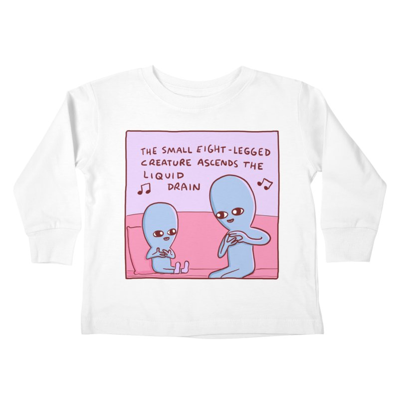 STRANGE PLANET SPECIAL PRODUCT: SMALL EIGHT-LEGGED CREATURE SINGLE PANEL Kids Toddler Longsleeve T-Shirt by Nathan W Pyle