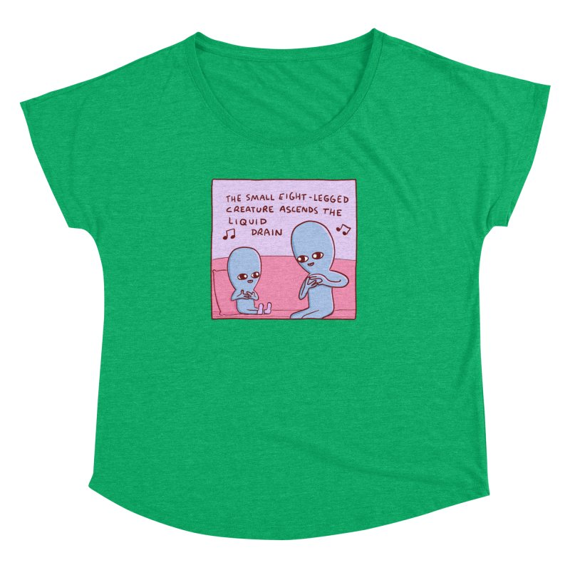 STRANGE PLANET SPECIAL PRODUCT: SMALL EIGHT-LEGGED CREATURE SINGLE PANEL Women's Dolman Scoop Neck by Nathan W Pyle
