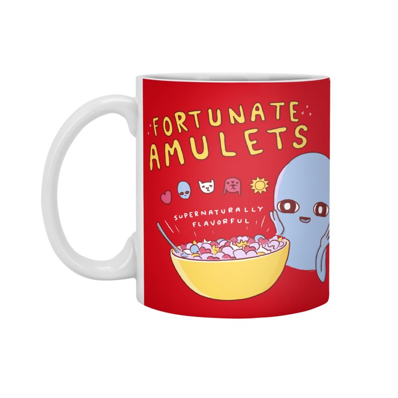STRANGE PLANET SPECIAL PRODUCT: FORTUNATE AMULETS - RED Accessories Standard Mug by Nathan W Pyle