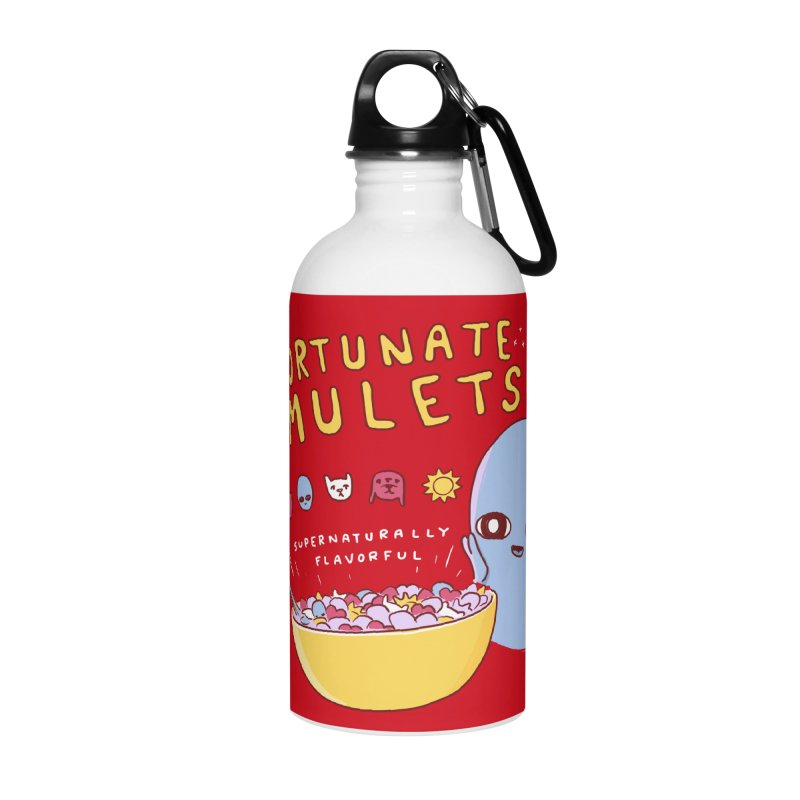 STRANGE PLANET SPECIAL PRODUCT: FORTUNATE AMULETS - RED Accessories Water Bottle by Nathan W Pyle