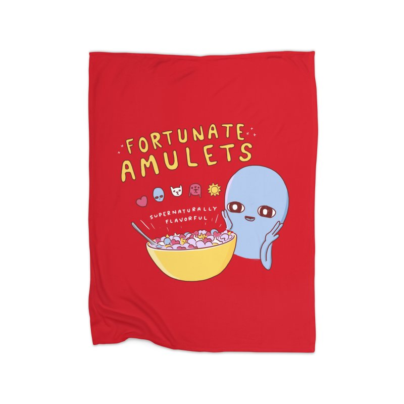 STRANGE PLANET SPECIAL PRODUCT: FORTUNATE AMULETS - RED Home Fleece Blanket Blanket by Nathan W Pyle