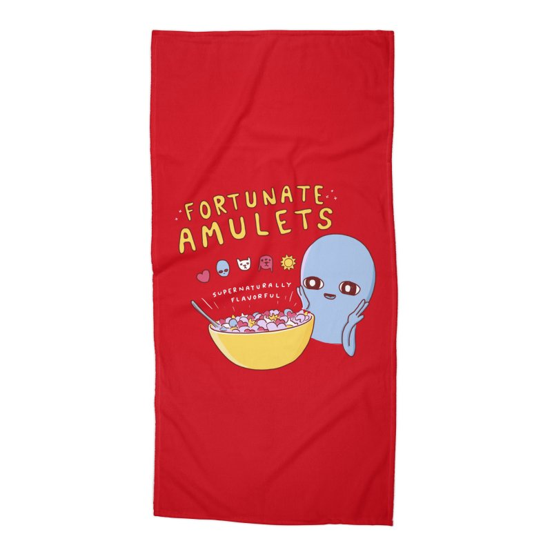 STRANGE PLANET SPECIAL PRODUCT: FORTUNATE AMULETS - RED Accessories Beach Towel by Nathan W Pyle