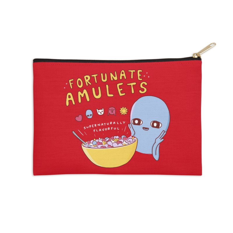 STRANGE PLANET SPECIAL PRODUCT: FORTUNATE AMULETS - RED Accessories Zip Pouch by Nathan W Pyle