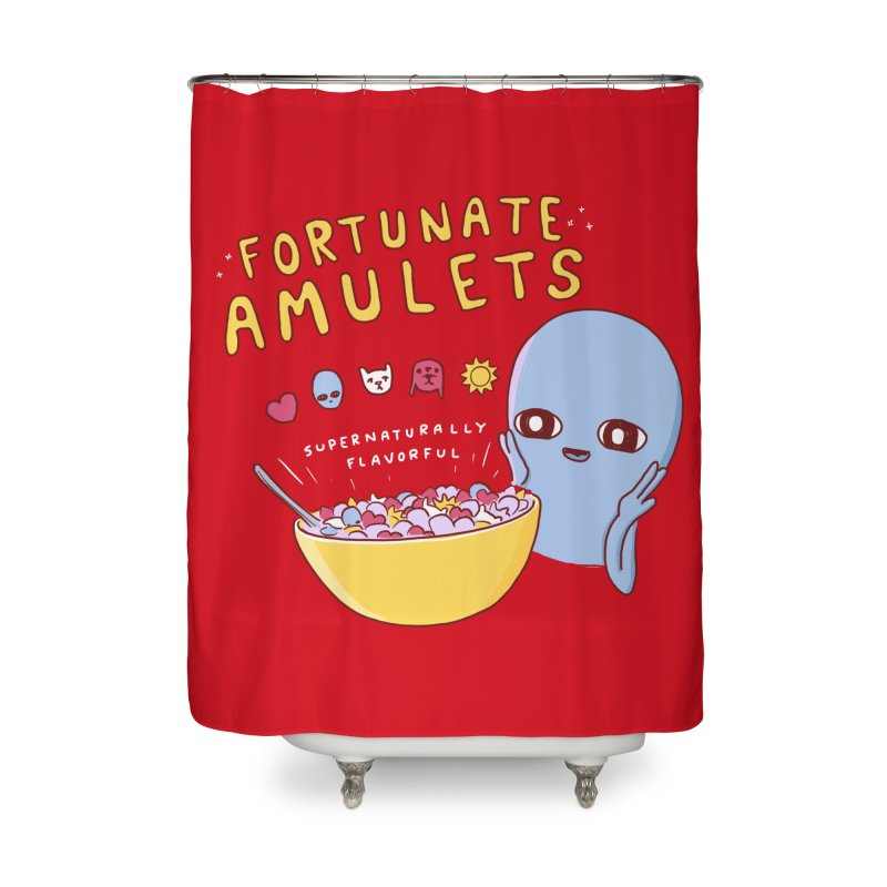 STRANGE PLANET SPECIAL PRODUCT: FORTUNATE AMULETS - RED Home Shower Curtain by Nathan W Pyle