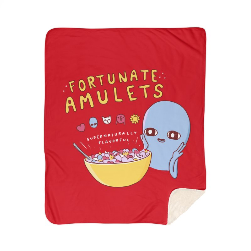 STRANGE PLANET SPECIAL PRODUCT: FORTUNATE AMULETS - RED Home Sherpa Blanket Blanket by Nathan W Pyle