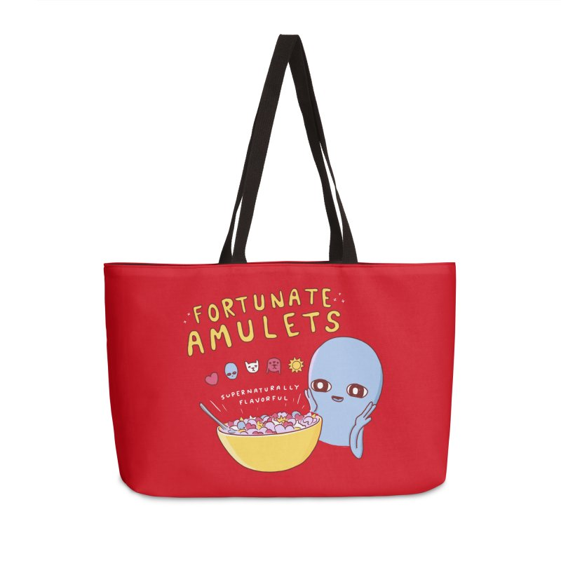 STRANGE PLANET SPECIAL PRODUCT: FORTUNATE AMULETS - RED Accessories Weekender Bag Bag by Nathan W Pyle