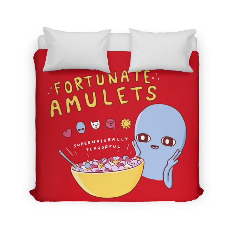 STRANGE PLANET SPECIAL PRODUCT: FORTUNATE AMULETS - RED Home Duvet by Nathan W Pyle