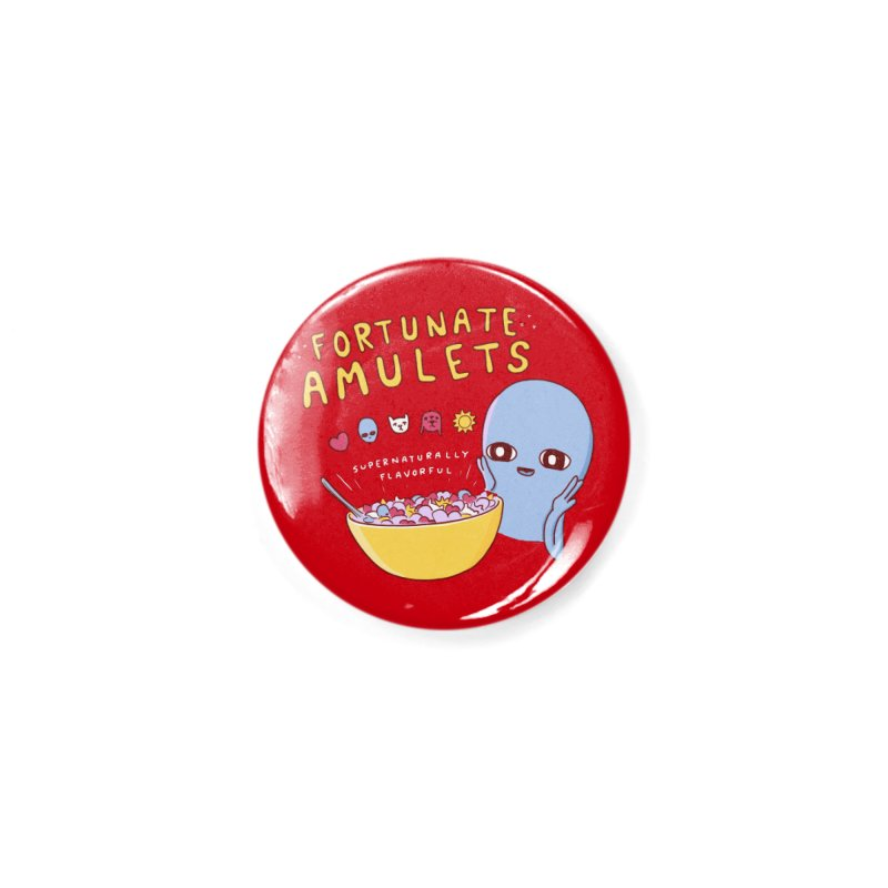 STRANGE PLANET SPECIAL PRODUCT: FORTUNATE AMULETS - RED Accessories Button by Nathan W Pyle