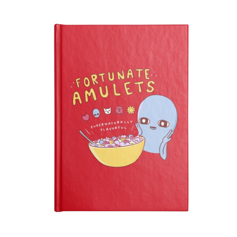 STRANGE PLANET SPECIAL PRODUCT: FORTUNATE AMULETS - RED Accessories Lined Journal Notebook by Nathan W Pyle