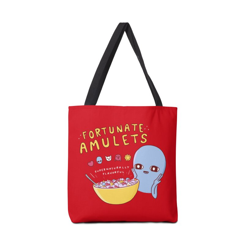 STRANGE PLANET SPECIAL PRODUCT: FORTUNATE AMULETS - RED Accessories Tote Bag Bag by Nathan W Pyle