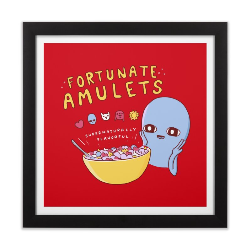 STRANGE PLANET SPECIAL PRODUCT: FORTUNATE AMULETS - RED Home Framed Fine Art Print by Nathan W Pyle