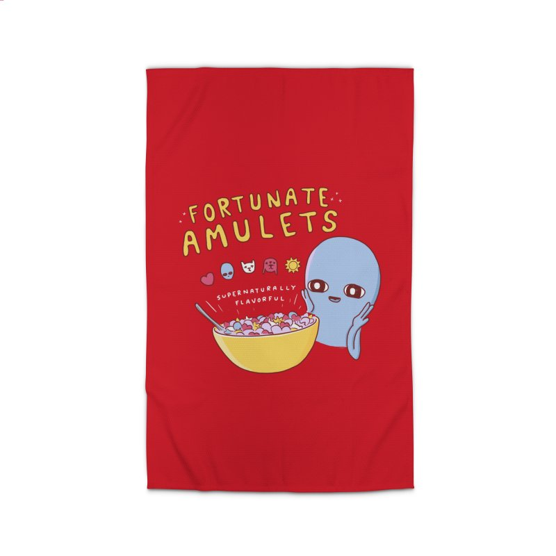 STRANGE PLANET SPECIAL PRODUCT: FORTUNATE AMULETS - RED Home Rug by Nathan W Pyle
