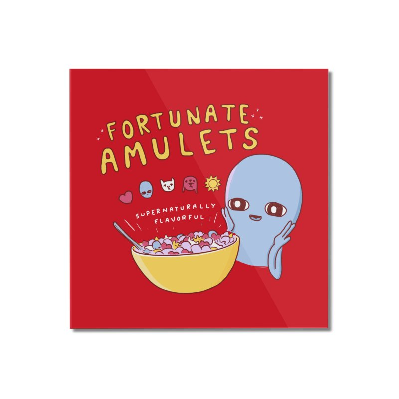 STRANGE PLANET SPECIAL PRODUCT: FORTUNATE AMULETS - RED Home Mounted Acrylic Print by Nathan W Pyle