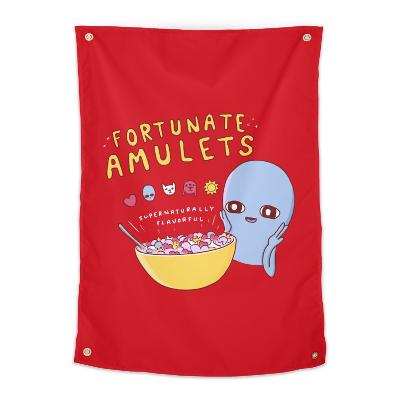 STRANGE PLANET SPECIAL PRODUCT: FORTUNATE AMULETS - RED Home Tapestry by Nathan W Pyle