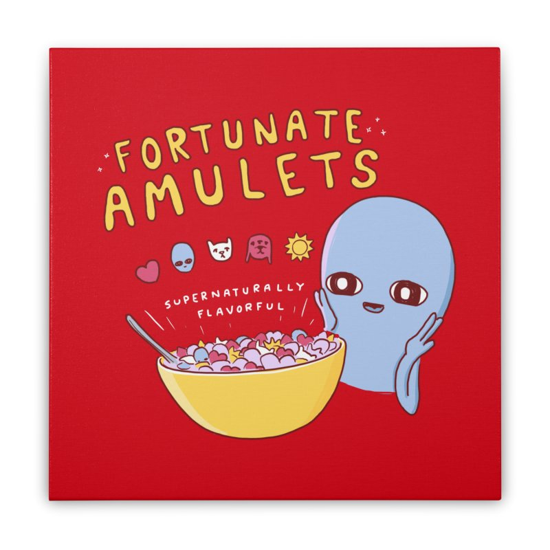 STRANGE PLANET SPECIAL PRODUCT: FORTUNATE AMULETS - RED Home Stretched Canvas by Nathan W Pyle