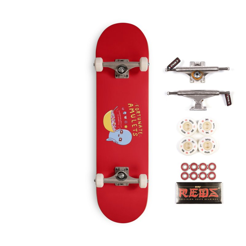 STRANGE PLANET SPECIAL PRODUCT: FORTUNATE AMULETS - RED Accessories Complete - Pro Skateboard by Nathan W Pyle