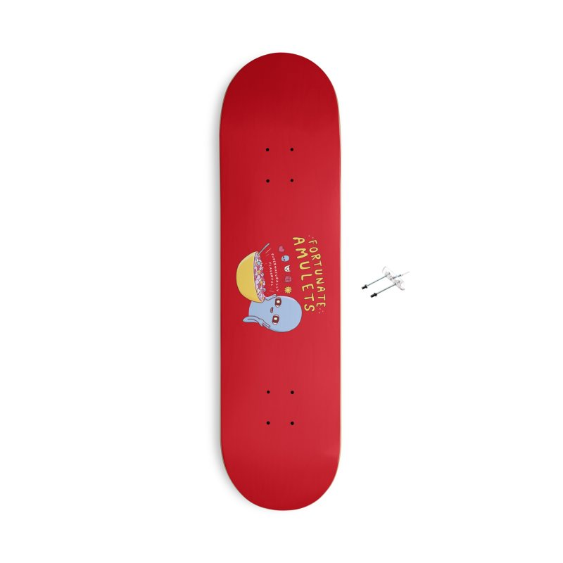 STRANGE PLANET SPECIAL PRODUCT: FORTUNATE AMULETS - RED Accessories With Hanging Hardware Skateboard by Nathan W Pyle