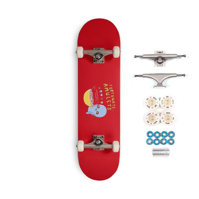 STRANGE PLANET SPECIAL PRODUCT: FORTUNATE AMULETS - RED Accessories Complete - Premium Skateboard by Nathan W Pyle