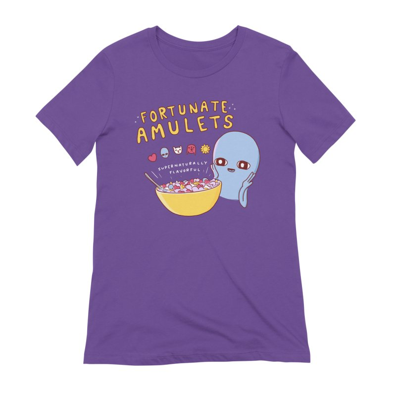 STRANGE PLANET SPECIAL PRODUCT: FORTUNATE AMULETS - RED Women's Extra Soft T-Shirt by Nathan W Pyle