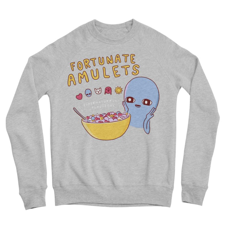 STRANGE PLANET SPECIAL PRODUCT: FORTUNATE AMULETS - RED Women's Sponge Fleece Sweatshirt by Nathan W Pyle