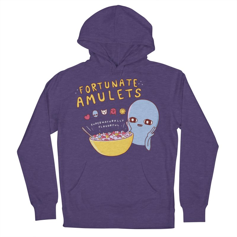 STRANGE PLANET SPECIAL PRODUCT: FORTUNATE AMULETS - RED Women's French Terry Pullover Hoody by Nathan W Pyle