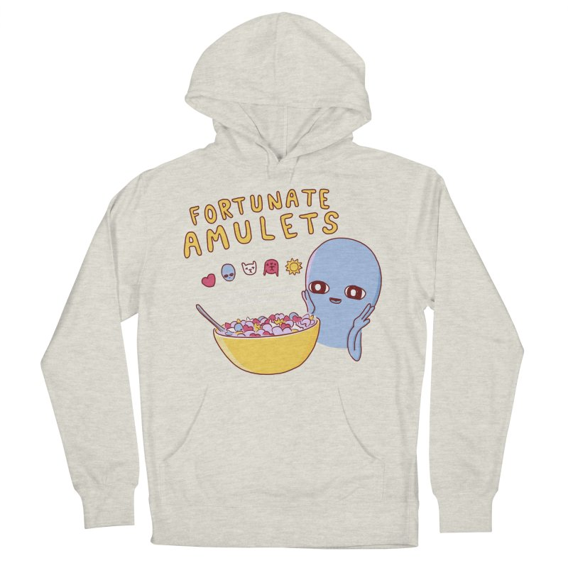STRANGE PLANET SPECIAL PRODUCT: FORTUNATE AMULETS - RED Men's French Terry Pullover Hoody by Nathan W Pyle