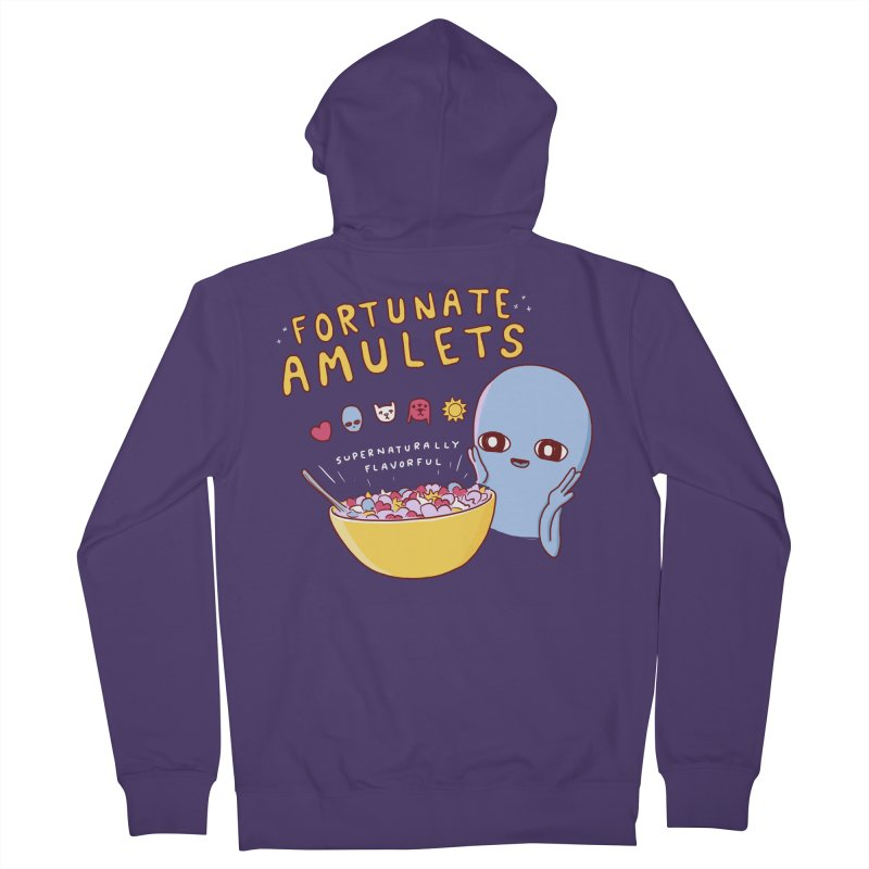 STRANGE PLANET SPECIAL PRODUCT: FORTUNATE AMULETS - RED Women's French Terry Zip-Up Hoody by Nathan W Pyle