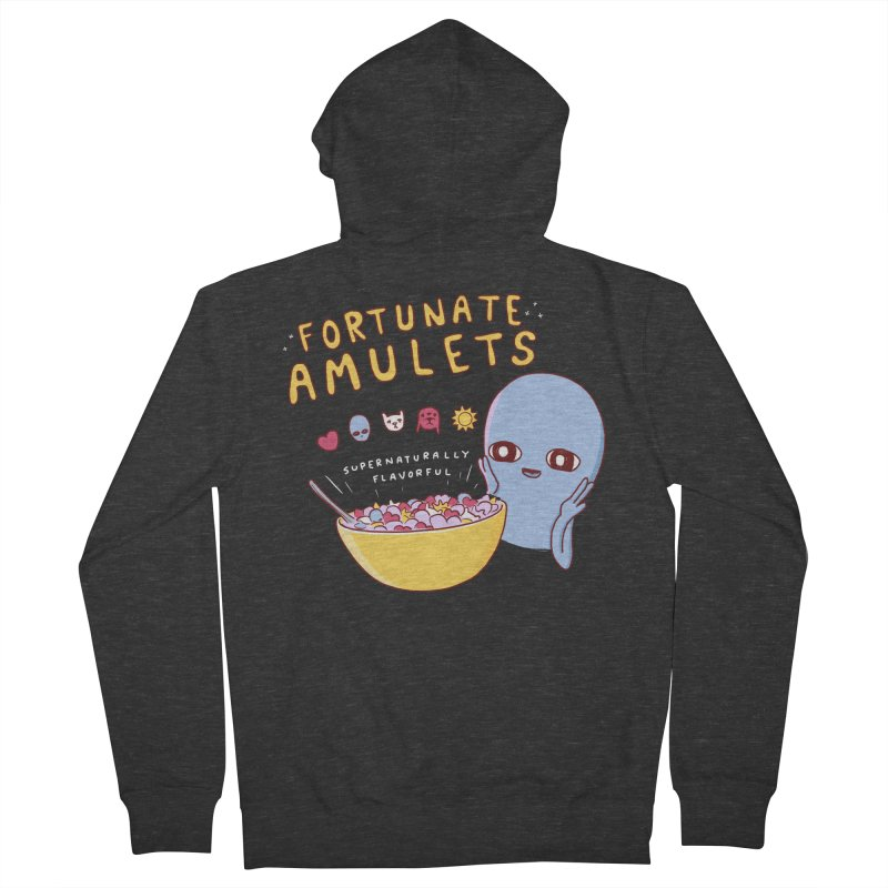 STRANGE PLANET SPECIAL PRODUCT: FORTUNATE AMULETS - RED Men's French Terry Zip-Up Hoody by Nathan W Pyle