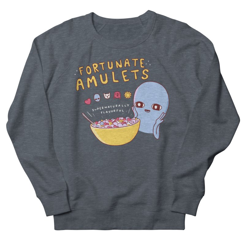 STRANGE PLANET SPECIAL PRODUCT: FORTUNATE AMULETS - RED Men's French Terry Sweatshirt by Nathan W Pyle