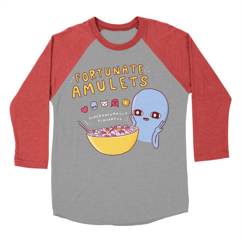 STRANGE PLANET SPECIAL PRODUCT: FORTUNATE AMULETS - RED Women's Baseball Triblend Longsleeve T-Shirt by Nathan W Pyle