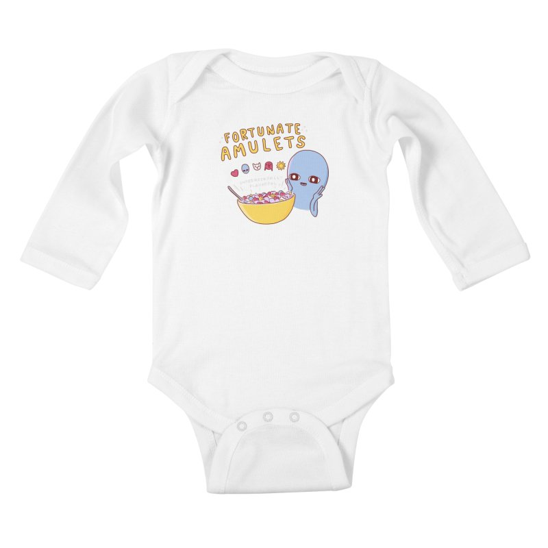 STRANGE PLANET SPECIAL PRODUCT: FORTUNATE AMULETS - RED Kids Baby Longsleeve Bodysuit by Nathan W Pyle