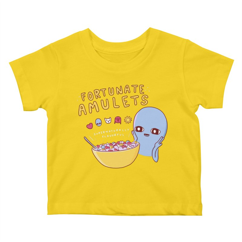 STRANGE PLANET SPECIAL PRODUCT: FORTUNATE AMULETS - RED Kids Baby T-Shirt by Nathan W Pyle