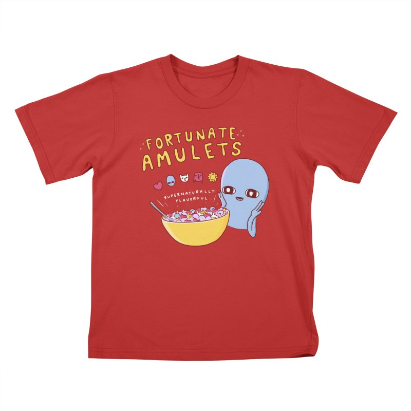 STRANGE PLANET SPECIAL PRODUCT: FORTUNATE AMULETS - RED Kids T-Shirt by Nathan W Pyle