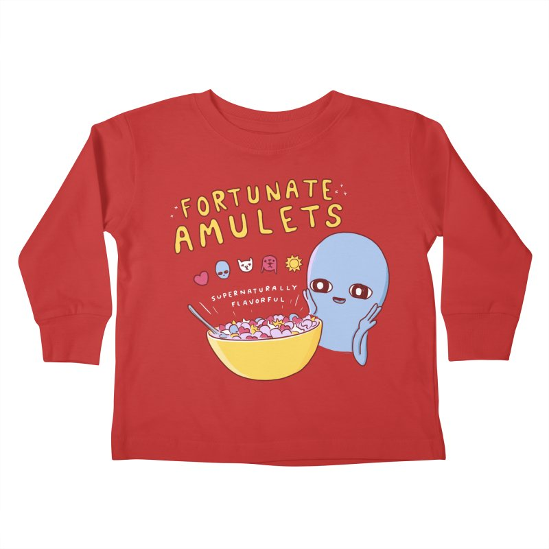 STRANGE PLANET SPECIAL PRODUCT: FORTUNATE AMULETS - RED Kids Toddler Longsleeve T-Shirt by Nathan W Pyle