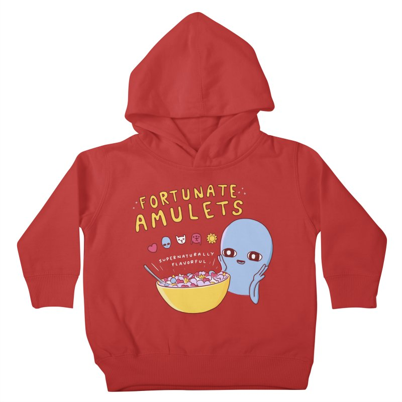 STRANGE PLANET SPECIAL PRODUCT: FORTUNATE AMULETS - RED Kids Toddler Pullover Hoody by Nathan W Pyle