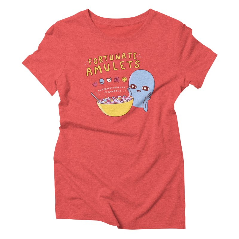 STRANGE PLANET SPECIAL PRODUCT: FORTUNATE AMULETS - RED Women's Triblend T-Shirt by Nathan W Pyle
