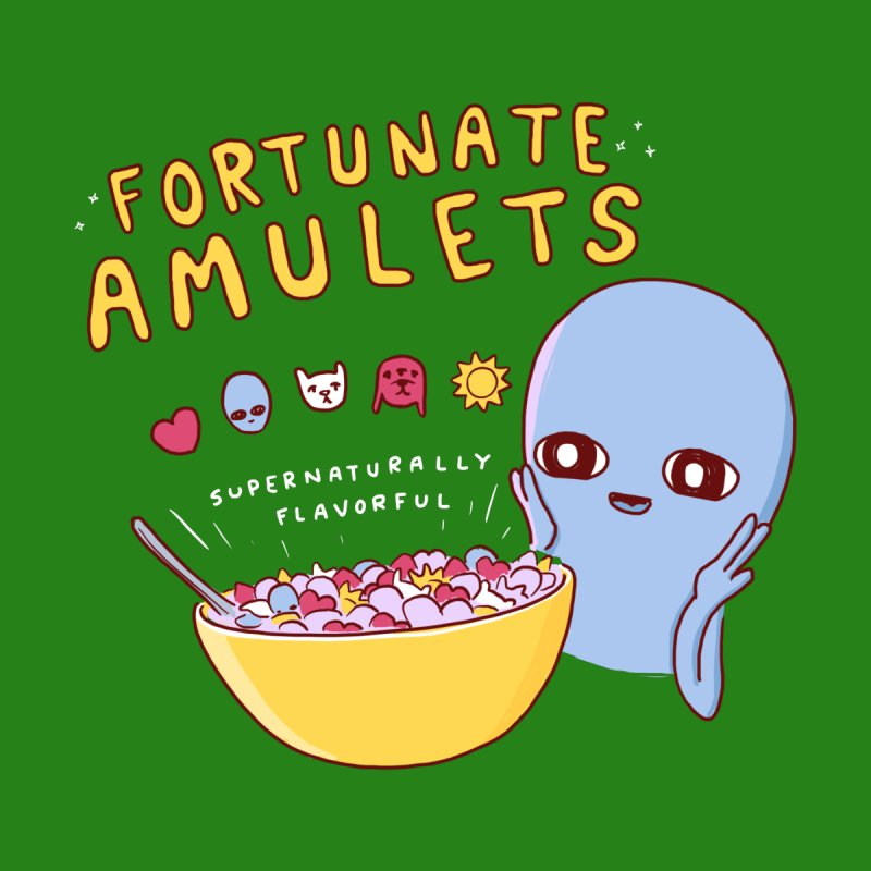 STRANGE PLANET SPECIAL PRODUCT: FORTUNATE AMULETS - GREEN Accessories Skateboard by Nathan W Pyle