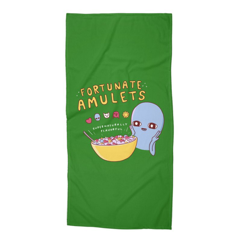 STRANGE PLANET SPECIAL PRODUCT: FORTUNATE AMULETS - GREEN Accessories Beach Towel by Nathan W Pyle