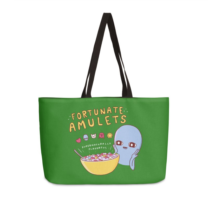 STRANGE PLANET SPECIAL PRODUCT: FORTUNATE AMULETS - GREEN Accessories Weekender Bag Bag by Nathan W Pyle